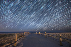 Path Of Stars (Mike Ver Sprill - Milky Way Mike) Tags: pathofstars star startrails trails startrail path walkway pathway sand ocean strathmere newjersey nj longexposure seascape nightscape landscape nightsky milkywaymike michaelversprill mikeversprill