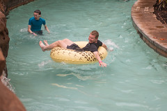 Adrian and Bob on the Lazy River (ronkacmarcik) Tags: nikkor357028 bob hawaii aulani oahu koolina lazy river