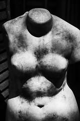 """This Woman's Rain"" (Photography by Sharon Farrell) Tags: sculpture statue mrluckysantiques mrluckysantiquesofnewhope newhopepa bridgestreet poetrybysharonfarrell newhope buckscounty poetry blackandwhite blackwhite noiretblanc"