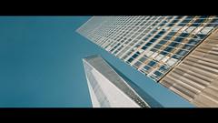 Sky Ltd (Panda1339) Tags: 28mm leicaq summiluxq worldtradecenter nyc newyorkcity blue architecture sky tower lookup manhattan usa