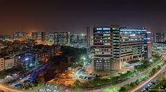 Hyderabad Skyline at Night - Explored (Dave Sexton) Tags: india telangana hyderabad city skyline westin hotel night haze smog panorama ultra wide angle pentax k1 2470mm f28