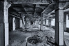 Lost in Space (Froschkönig Photos) Tags: lost space lostinspace urbex canoneos70d 2017 canonefs1022 sw bw fabrik schampoo alt old verfall dust dreck müll waste