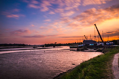 A Walk By The River (collins.photographyuk) Tags: canon tripod tamron manfrotto landscape sunset colours colourful colourfulsky sky water river riverdeben melton suffolk ndfilter 10stop boat boatyard countryside ngc