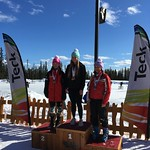 Teck U14 Provincials at Big White Top Ladies 1st Brynn Applegath from Sun Peaks; 2nd Sara Stiel from Whistler; 3rd Jaden Dawson from Whistler PHOTO CREDIT: John Legg