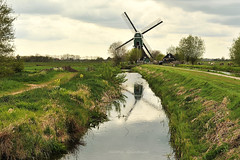 """Le moulin """" De Bachtenaar"""" (1714) (Hélène Quintaine) Tags: moulin hollande eau extérieur paysage reflet ciel nuage aile avril printemps paysbas nederlande debachtenaar vlist"""