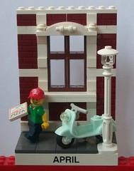 2017-04 Pizzaservice (TobyDe) Tags: lego kalender calendar april stadt town city collectableminifigures legominifiguren legominifigures minifiguren minifigures