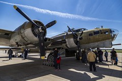 Looking Her Over (Kool Cats Photography over 8 Million Views) Tags: bomber b17 flying fortress flyingfortress wwii historic oklahoma airshow outdoor