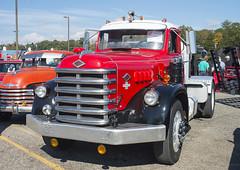 1955 Diamond T tractor (Thumpr455) Tags: americantruckhistoricalsociety westernnorthcarolinaagcenter arden nc october 2016 aths truck nikon d800 northcarolina machinery 1955 diamond t tractor red semi