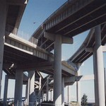 Under I-5 exchange, Portland, OR.  Mid 1990s. thumbnail