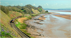 Sand, Silt and Seawood (Welsh Gold) Tags: 66084 6v05 round oak margam steel train severn estuary purton gatcombe gloucestershire engalnd