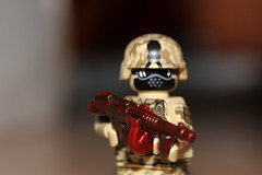 Crimson Killer (lego slayer) Tags: crimson red swirl brickarms prototype citizen brick citizenbrick lego legos scifi fantasy demon