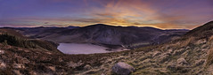 Lugalla Valley Sunset, Ireland (Swavek Skibinski) Tags: sunset loughtay wicklowmountains lake clouds landscape pano panorama hdr colours cloudscape canon80d sigma1835mm blue sky