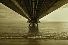 Fisherman's Pier (Jon Scherff) Tags: sepia pier horizon symmetry oceanview nikond810 nikon1424mmf28afs