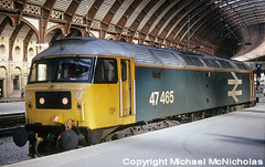 Class 47 Under The Roof (Michael McNicholas) (neilh156) Tags: railway 47465 yorkstation york class47 brlargelogo brushtype4 sulzer duff spoon michaelmcnicholas
