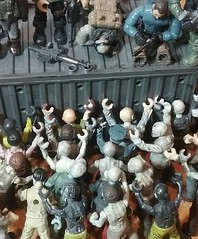 No hope (Alexa thlt) Tags: zombie apocalypse lego mega legozombie legominifigure minifigure apoc desperate ending fihgt firearms scene