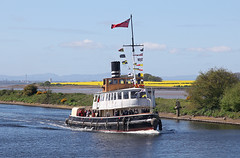 'Daniel Adamson' Runcorn 22nd April 2017 (John Eyres) Tags: steam tug tender daniel adamson passing runcorn her way along manchester ship canal she is starting full season cruises after completing restoration work 2016