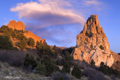 Dawn To Dusk_MG_0326_0401 (Alfred J. Lockwood Photography) Tags: alfredjlockwood landscape nature gardenofthegods clouds composite dawn dusk sunrise colorado rockformation sandstone winter twilight