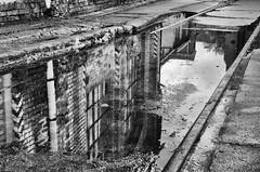 nothing lasts forever (micagoto) Tags: bw schöneweide railway schienen pfütze spiegel spiegelung
