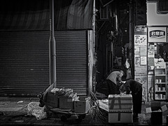 Struggle for life (cyangLtravel) Tags: bw grayscale poor cruel life urban city night documentary truelife people