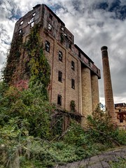 Frau Blucher! (photography_isn't_terrorism) Tags: abandoned neglected smokestack distillery cloudy moody dark hdr