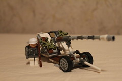Pak 43 with Cruciform Mount in Winter Camo (BlitzBuilderPro) Tags: pak 43 panzerabwehrkanone lego winter ww2 camo eastern front with cruciform mount german antitank gun