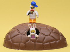 Happy Chocolate Eggy Day (MinifigNick) Tags: egg easter chocolate bunny lego chicken