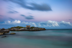 Mexican Blues (Brian Krouskie) Tags: xaac blue hour ruin sunset clouds water sea carribean longexposure grand sirenis riviera maya beach sky landscape outdoor architecture mexico akumal bay