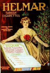 Turkish Cigarettes for Christmas_edited-1 (kevin63) Tags: lightner internetarchive motionpicturemagazine 1918 1900s covers color women glamorous old vintage antique retro magazine advertisement helmar turkish cigarettes gift snow man smoking