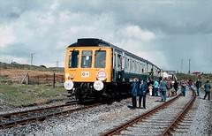 The MRS 'Maerdy Gras' railtour at Onllwyn, Wales. 20/04/85. (Marra Man) Tags: onllwyn class117 l423 britishrail monmouthshirerailwaysociety maerdygras