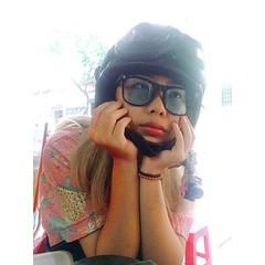 so sad 🍍 (tramambi) Tags: photo phone picture image camera zenfone me girl hanoi holiday mood fun sad like love pink black glass people portrait summer vietnam alone