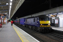 90034 Bank Quay 18th April 2017 (John Eyres) Tags: almost missed booked crew change 4s47 daventry mossend intermodal with 90034 voyager only just departing last minute 180417