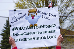 Protesters Greet Arrival of Trump in Kenosha Wisconsin 4-18-17 (www.cemillerphotography.com) Tags: rally resistance potus osprey marines security transgender war militarism fascism racism misogyny xenophobia antiimmigrants prejudice workers unions billionaires rich poor wealth poverty