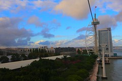 IMG_2997 (AndyMc87) Tags: lisboa lisbon lissabon cable car sky clouds torre turm tower blue colourful travel holiday water park above expo myriad canon eos 6d 2470 l