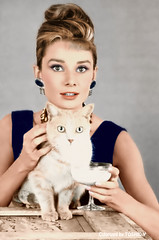 Audrey Hepburn Breakfast At Tiffany's ,1961 (Colorized by TOSHIO.Y) Tags: audrey hepburn