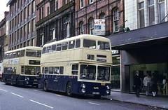 WMPTE 111L, Lichfield Street, Wolverhampton, 1981 (Lady Wulfrun) Tags: xdh511g 111 111l walsall wmpte bus short fleetlien 1980s 1981 79 79x 79e wednesbury coop wolverhampton lichfieldstreet ncmw