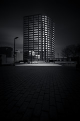 A Sliver of Daylight (bprice0715) Tags: canon canoneos5dmarkiii canon5dmarkiii architecture architecturephotography building blackandwhite blackwhite bw contrast highcontrast lowkey hartford hartfordct leefilters leebigstopper longexposure structure city urban