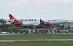 G-VFIZ A340 Virgin Atlantic at Heathrow 22-04-17 (Pete Altoft) Tags: virgin airlines aircraft airport airbus a340 atlantic long haul planespotting heathrowairport uk 2017