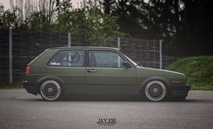 VW GOLF MK2 (JAYJOE.MEDIA) Tags: vw golf mk2 volkswagen low lower lowered lowlife stance stanced bagged airride static slammed wheelwhore fitment bbs bbswheels