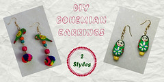 How to make boho earrings- 2 styles (DIY Empress) Tags: diy earrings earringfashion boho bohemian bohoearrings fashion beautiful tutorial howto blogger inspiration make diyblogger girl girlboss happy parrot doll pompom smile colorful spark