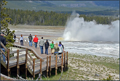 Letting Off Steam (Photographic Poetry) Tags: yellowstone nationalpark geyser nature landscape travel explore