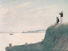 Watercolour painting of Charlottetown Harbour and its Blockhouse, Prince Edward Island / Aquarelle représentant le port de Charlottetown et son blockhaus (Île-du-Prince-Édouard)