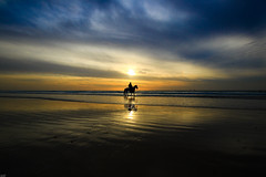The Sea Cowboy - Tel-Aviv beach (Lior. L) Tags: theseacowboytelavivbeach sea cowboy telaviv beach silhouette horse horseman nature travel sunset reflection