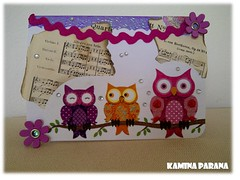 card owls front (Kamina Parana) Tags: scrapbooking napkin mother karte card owl selfmade mutter scrap papier handcraft selbstgemacht serviette eule muttertag handarbeit mothersday napkintechniqueserviettentechnik