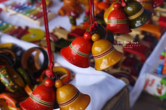 Bells (Shobitha267) Tags: red india yellow market jewelry hyderabad flee bangles