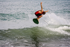 Surf & Skimboard (antnO) Tags: blue sea espaa sun beach sport surf waves board malaga skimboard