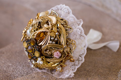 brooch bouquet (pumpkin and pye) Tags: lace brooches broochbouquet broochweddinggoldbroochbouquet