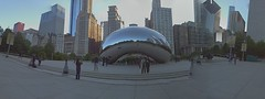 Cloud Gate (The Bean) Panorama (thievingjoker) Tags: panorama usa chicago reflections illinois unitedstates pano milleniumpark cloudgate thebean artinstallation