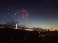 Fireworks over The James