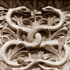IMG_5718 (Mat_B) Tags: uk trip travel 2 summer vacation england holiday detail london sepia square britain snake may bank relief serpent bas twine inter 2013