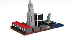 Mini-scale New York (SteampunkDoc) Tags: new york statue digital liberty lego designer mini moc ldd miniscale
